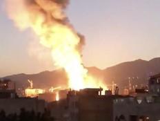זירת הפיצוץ בטהרן