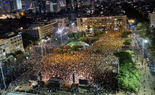 מחאת נפגעי משבר הקורונה (צילום: החדשות 12)
