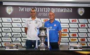 יוסי אבוקסיס וגיא לוזון (צילום: ההתאחדות לכדורגל)