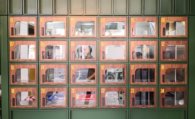גו נודלס סניף  חדש עם לוקרים  (צילום: דניאל לילה , יחסי ציבור)
