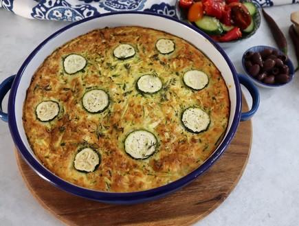 פשטידת זוקיני יוונית ב-5 מרכיבים (צילום: רון יוחננוב, אוכל טוב)