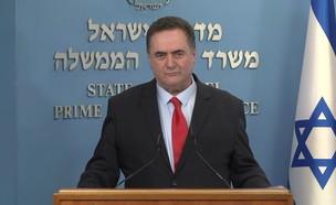 """שר האוצר ישראל כ""""ץ (צילום: החדשות 12)"""