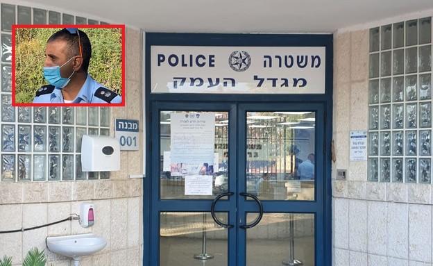 האיום: טיל לאו לביתו של מפקד תחנת משטרה (צילום: אלון חן, פרטי)