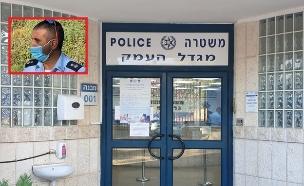 האיום: טיל לאו לביתו של מפקד תחנת משטרה (צילום: פרטי)
