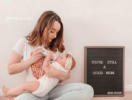 טורי והתינוקת (צילום: אינסטגרם)