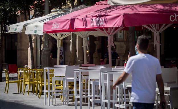 מסעדה בקורונה  (צילום: פלאש 90)