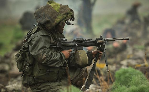 """לוחם באימון (צילום: דובר צה""""ל )"""