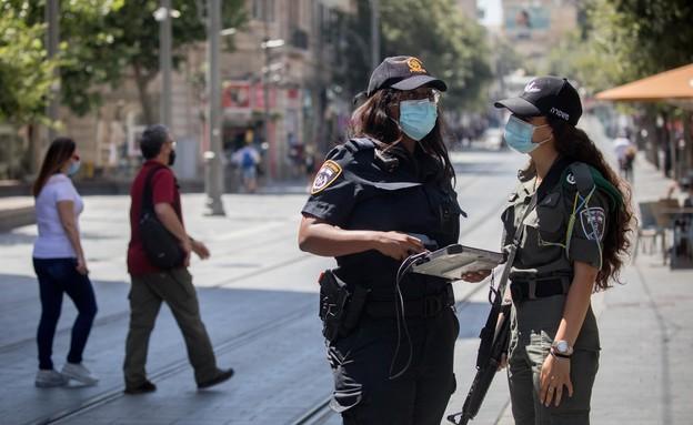 אכיפת ההגבלות החדשות בירושלים (צילום: יונתן זינדל, פלאש 90)