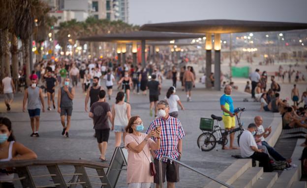הפגנה בתל אביב (צילום: מרים אלסטר/פלאש 90)