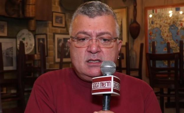 """המסעדן שלומי סלמון פתח בשביתת רעב (צילום: מתוך """"חדשות הבוקר"""" , קשת 12)"""