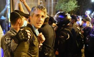 ישי גרין במחאה נגד הממשלה (צילום: רפי מיכאלי)