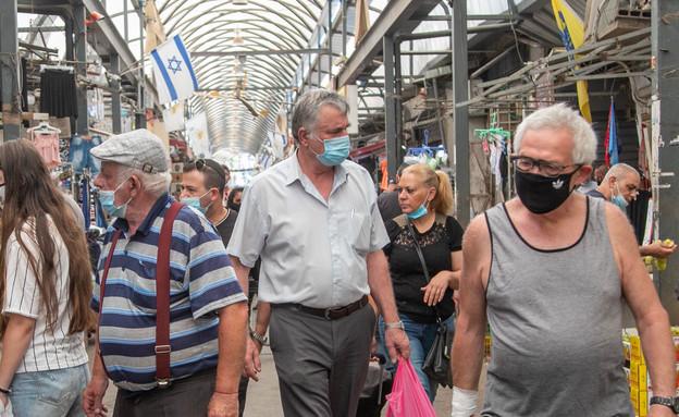 קורונה בירושלים - שוק מחנה יהודה (צילום: יוסי אלוני, פלאש 90)