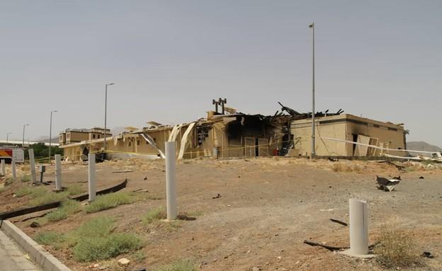 הנזק בשרפה במפעל בנתנז, אירן (צילום: סוכנות הגרעין האירנית)