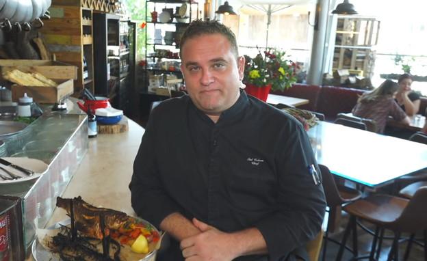 השף טל כהן מסעדת סילו, חולון (צילום: החדשות 12)
