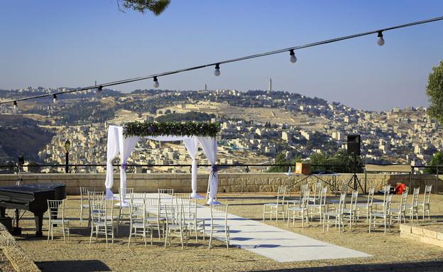 חתונה בירושלים (צילום: מתוך הפרופיל של משה ליאון, פייסבוק)