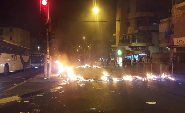 ההפגנות בירושלים (צילום: יהודה בן ציון, מחאות החרדים הקיצוניים)