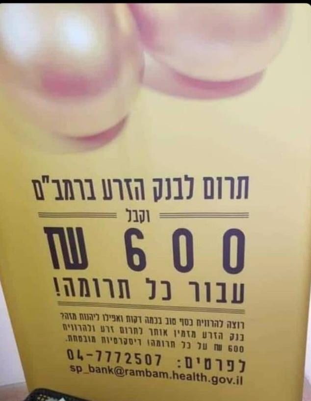 פרסומת לתרומת זרע (צילום: צילום פרטי, אלבום פרטי)