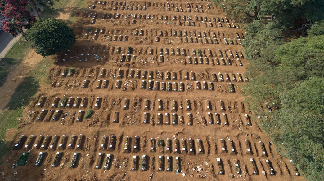 קברים המוניים בברזיל (צילום: AP)