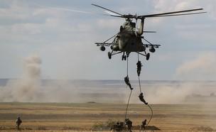 היחידה בתרגיל (צילום: משרד ההגנה הרוסי, טוויטר)
