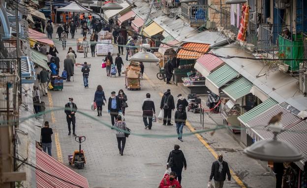 שוק מחנה יהודה בירושלים (צילום: יונתן סינדל פלאש 90)