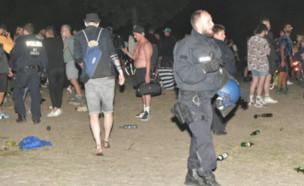 ברלין מסיבה לא חוקית (צילום: צילום מסך מהטוויטר)