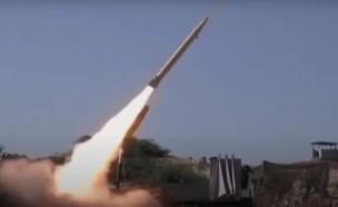 שיגור טיל (צילום: RTarabic, YouTube)