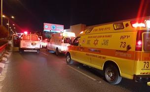 """זירת התאונה בבני ברק (צילום: אהרון פישר, תיעוד מבצעי מד""""א)"""