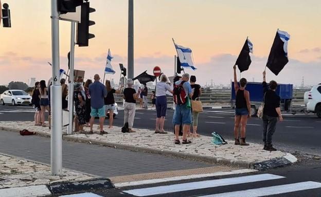 מחאת הדגלים השחורים במחלף יגור
