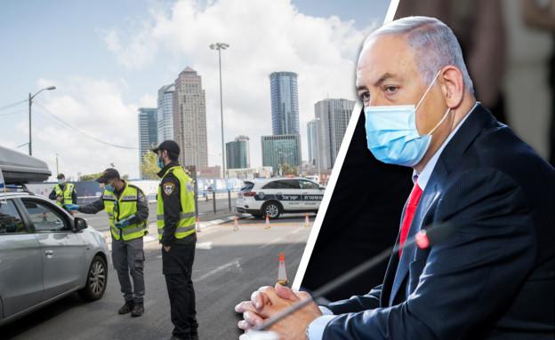 היעד החדש של הממשלה לפתיחת המשק (עיבוד: מרק ישראל סלם ומירים אלסטר, פלאש 90)