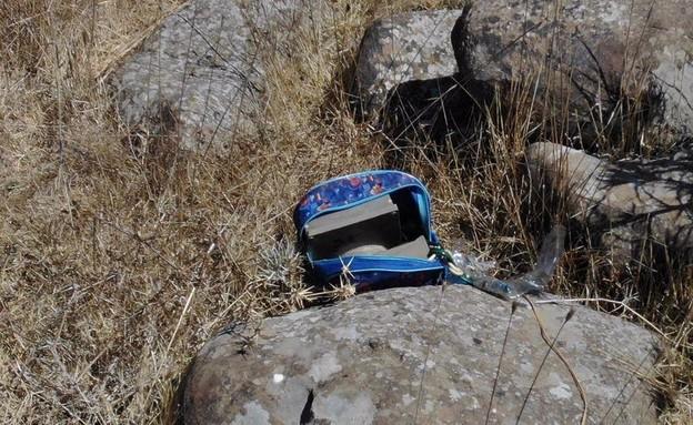 """המטען שהתגלה בגבול סוריה (צילום: דובר צה""""ל)"""