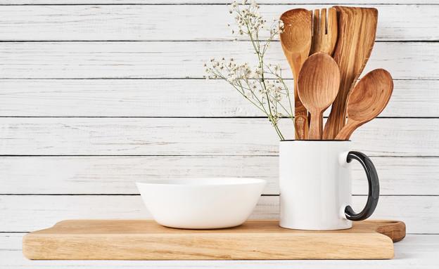 כלי בישול מעץ, כף עץ (צילום:  Lazy_Bear, Shutterstock)
