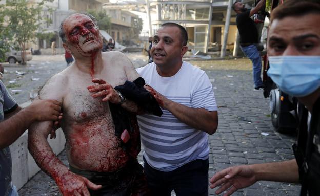 פיצוץ בביירות לבנון (צילום: AP)