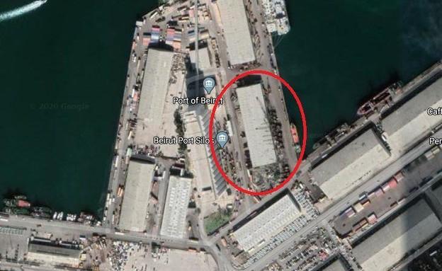 המחסן שהתפוצץ בביירות