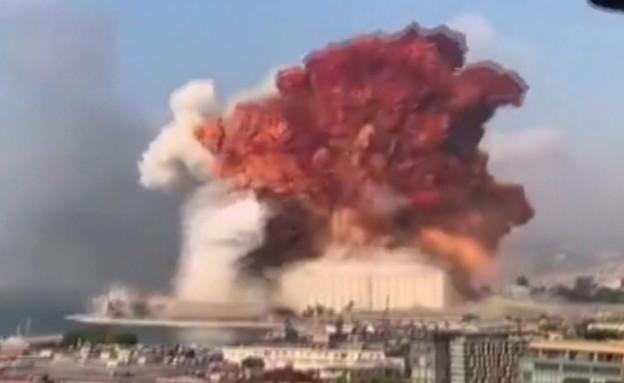 פיצוץ עצום בביירות, לבנון