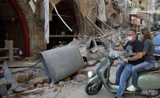אסון בנמל בירות בלבנון (צילום: AP)