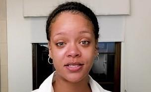 ריהאנה בלי איפור (צילום: צילום מסך מתוך הסרטון של ריהאנה, instagram)