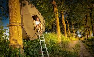 אוהלים דמויי טיפה (צילום: מתוך אתר www.visitlimburg.be)