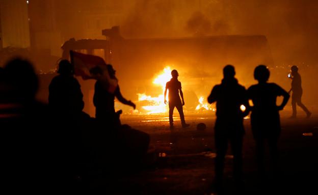 מהומות בלבנון (צילום: רויטרס)