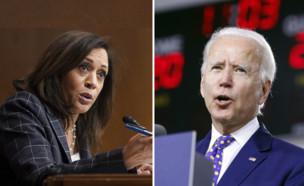 ג'ו ביידן  וקמאלה האריס (צילום: AP)