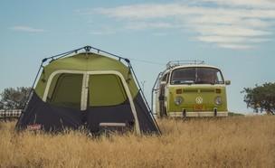 אוהל בן רגע של המותג קולמן (צילום: ליאור בלו)