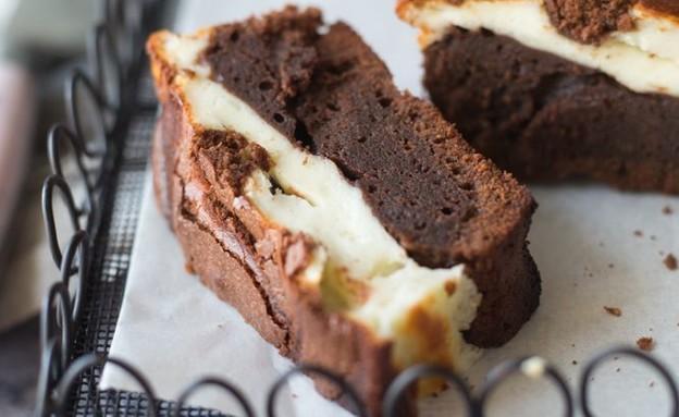 עוגת בראוניז גבינה (צילום: קרן אגם, אוכל טוב)