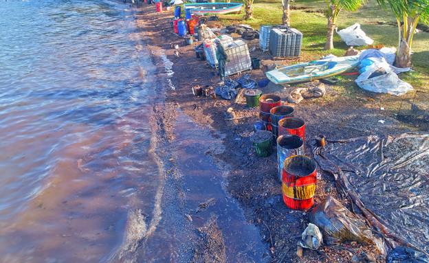 מיוחד ל-N12: דיווח מזירת אסון הטבע במאוריציוס