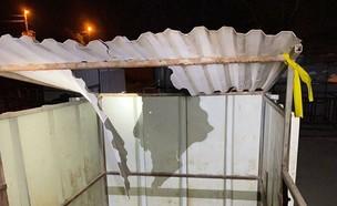 """המבנה שנפגע מטיל מסוק צה""""ל (צילום: קבוצת ביטחון שדה)"""