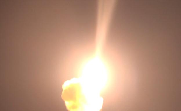 ניסוי יירוט של מערכת הנשק חץ (צילום: משרד הביטחון)