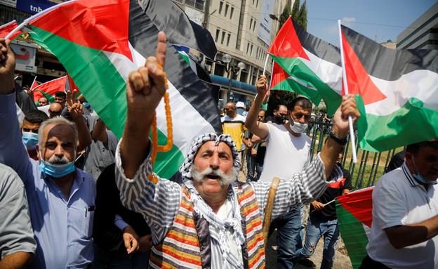 הפגנות הפלסטינים נגד ההסכם עם האמירויות