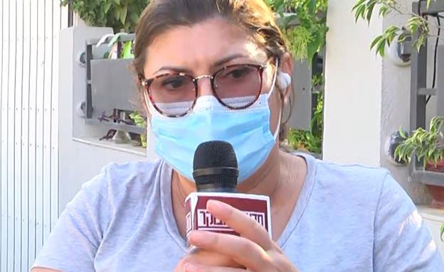 """נליה לביקו על נפילת הרקטה ליד ביתה בשדרות (צילום: מתוך """"חדשות הבוקר"""" , קשת 12)"""