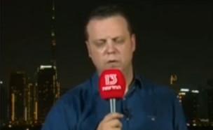 דורון הרמן מתעלף בשידור (צילום: רשת 13 )
