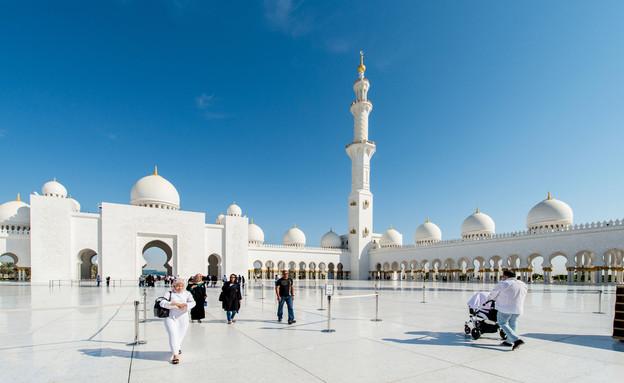 מסגד באבו דאבי (צילום: 123rf)
