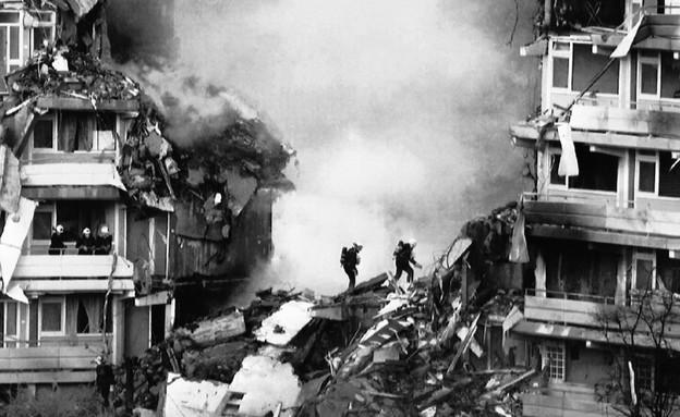 התרסקות מטוס אלעל באוקטובר 1992 בהולנד (צילום: AP)