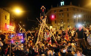 ההפגנות בבלפור (צילום: רויטרס)